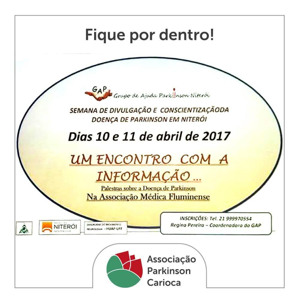 Semana de Divulgação e Conscientização da Doença de Parkinson em Niterói