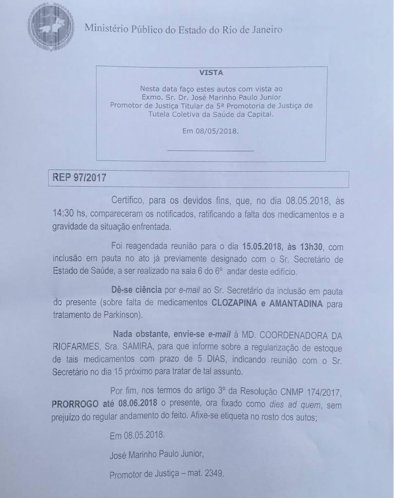 Documento gerado pelo Ministério Público